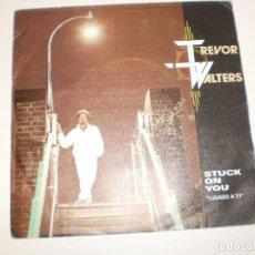 Discos de vinilo: SINGLE TREVOR WALTERS. STUCK ON YOU. NEVER LET HER SLIP AWAY. POLYDOR 1985 SPAIN (PROBADO Y BIEN). Lote 155250186