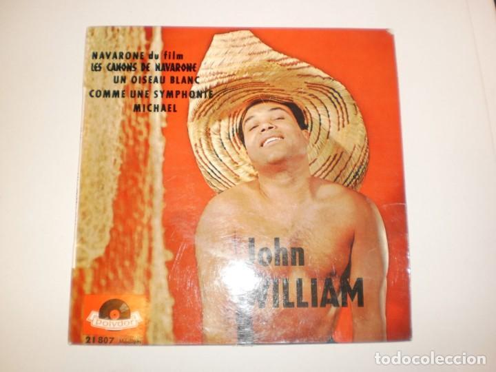 SINGLE JOHN WILLIAM. NAVARONE. UN OISEAU BLANC. COMME UNE SYMPHONTE. MICHAEL. POLYDOR FRANCE (Música - Discos - Singles Vinilo - Canción Francesa e Italiana)