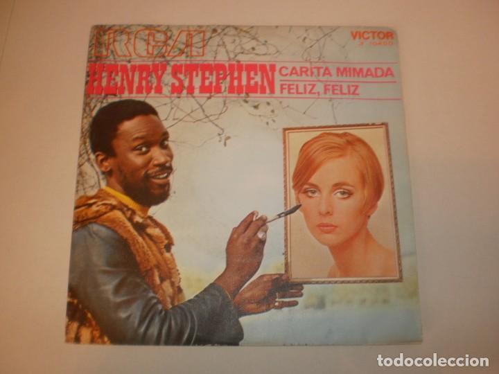 SINGLE HENRY STEPHEN. CARITA MIMADA. FELIZ, FELIZ. RCA 1970 SPAIN (PROBADO Y BIEN, SEMINUEVO) (Música - Discos - Singles Vinilo - Solistas Españoles de los 70 a la actualidad)