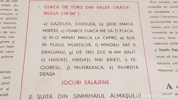 Discos de vinilo: CLACÁ DE TORS DIN VALEA DRÁGANULUI / LP-ELECTRECORD-RUMANIA / RARO / MBC. ***/*** - Foto 3 - 155259670