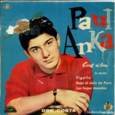 Discos de vinilo: PAUL ANKA / S'EST SI BON + 3 (EP 1960). Lote 155283070