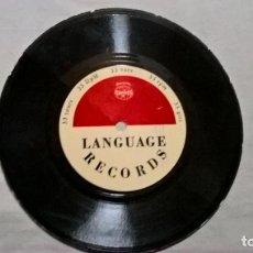 Discos de vinilo: SINGLE: CURSO DE IDIOMAS LANGUAGE RECORDS. Lote 155283254