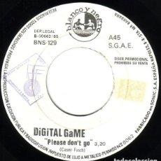 Vinyl-Schallplatten - DIGITAL GAME - PLEASE DON'T GO - SINGLE PROMO SPAIN 1985 ITALO-DISCO - 155298546