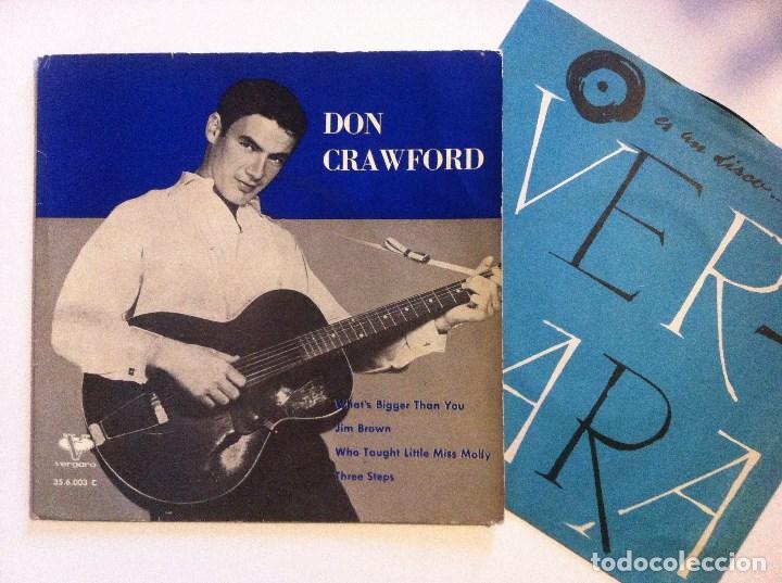DON CRAWFORD - WHAT´S BIGGER THAN YOU - EP 1962 - VERGARA (Música - Discos de Vinilo - EPs - Rock & Roll)