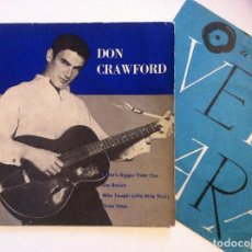 Discos de vinilo: DON CRAWFORD - WHAT´S BIGGER THAN YOU - EP 1962 - VERGARA. Lote 155298574