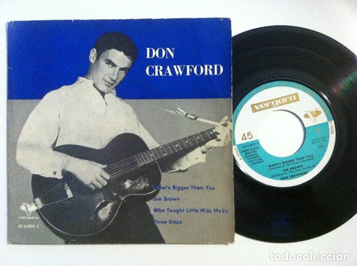 Discos de vinilo: DON CRAWFORD - what´s bigger than you - EP 1962 - VERGARA - Foto 2 - 155298574