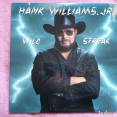 Discos de vinilo: HANK WILLIAMS JR,WILD STREAK EDICION USA . Lote 155300706