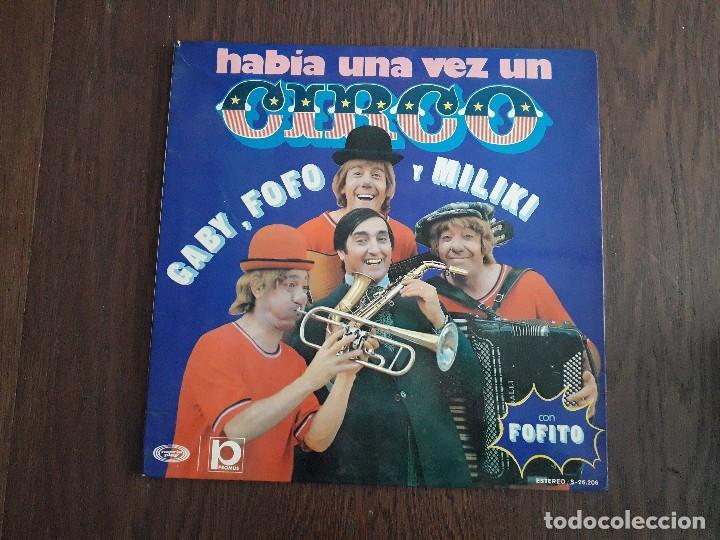 DISCO VINILO LP HABÍA UNA VEZ UN CIRCO, LOS PAYASOS DE LA TELE. S-26.206 AÑO 1973 (Música - Discos - LPs Vinilo - Música Infantil)