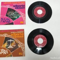 Discos de vinilo: 2 SINGLES ALBERTO CLOSAS 1968. Lote 155317454