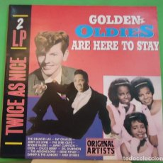 Discos de vinilo: LP VARIOUS – GOLDEN OLDIES ARE HERE TO STAY 2LP. Lote 155332118