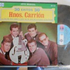 Discos de vinilo: HERMANOS CARRION-LP DOBLE 30 EXITOS DE ORO-MEXICO. Lote 155353502