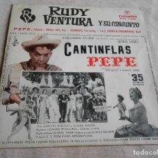Disques de vinyle: RUDY VENTURA Y SU CONJUNTO, EP, PEPE + 3, AÑO 1961. Lote 155354178