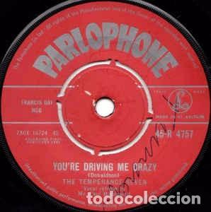 THE TEMPERANCE SEVEN - YOU'RE DRIVING ME CRAZY (7, SINGLE) LABEL:PARLOPHONE CAT#: 45-R 4757 (Música - Discos - Singles Vinilo - Jazz, Jazz-Rock, Blues y R&B)