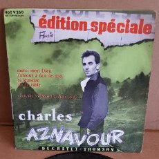 Discos de vinilo: CHARLES AZNAVOUR / ÉDITION SPÉCIALE / EP-DUCRETET-THOMSON-1956 / CALIDAD LUJO. ***/****. Lote 155362922