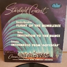 Discos de vinilo: STARLIGHT CONCERT / ORCH. HOLLYWOOD BOWL SIMPHONY / EP-CAPITOL-1959 / MBC. ***/***. Lote 155363406