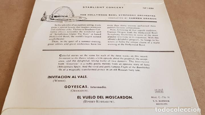 Discos de vinilo: STARLIGHT CONCERT / ORCH. HOLLYWOOD BOWL SIMPHONY / EP-CAPITOL-1959 / MBC. ***/*** - Foto 2 - 155363406
