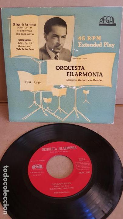 ORQUESTA FILARMONIA / VON KARAJAN / EP-REGAL - AÑOS 50 / MBC. ***/*** (Música - Discos de Vinilo - EPs - Clásica, Ópera, Zarzuela y Marchas)