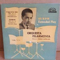 Discos de vinilo: ORQUESTA FILARMONIA / VON KARAJAN / EP-REGAL - AÑOS 50 / MBC. ***/***. Lote 155365886