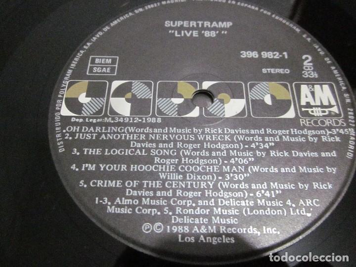 Discos de vinilo: SUPERTRAMP - LIVE 88 - LP - EDICION ESPAÑOLA DEL AÑO 1988 - VER FOTOS. - Foto 5 - 155366822