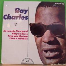 Discos de vinilo: EP 7'' RAY CHARLES – MI CORAZÓN LLORA POR TI. Lote 155375774
