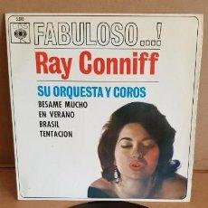 Discos de vinilo: RAY CONNIFF / FABULOSO / EP - CBS - 1962 / MBC. ***/***. Lote 155380954