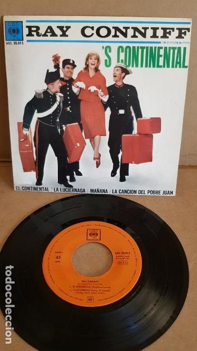 RAY CONNIFF / EL CONTINENTAL / EP - CBS - 1962 / MBC. ***/*** (Música - Discos de Vinilo - EPs - Orquestas)