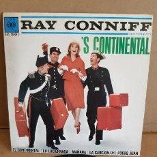 Discos de vinilo: RAY CONNIFF / EL CONTINENTAL / EP - CBS - 1962 / MBC. ***/***. Lote 155381146