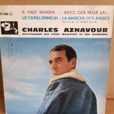 Discos de vinilo: CHARLES AZNAVOUR ACCOPAGNÉ PAR PAUL MAURIAT / EP - BARCLAY-FRANCE / MBC. ***/***. Lote 155382914