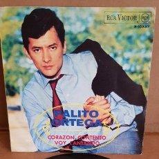 Discos de vinilo: PALITO ORTEGA CON TOSCANO Y ORQ. / CORAZÓN CONTENTO / SG-RCA-VICTOR-1968 / MBC. ***/***. Lote 155384806