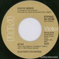 Discos de vinilo: DAVID BOWIE - STAY (SINGLE) PROMO. Lote 155386282