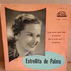 Discos de vinilo: ESTRELLITA DE PALMA / TANTO TIENES, TANTO VALES / EP - REGAL-1958 / MBC.***/***. Lote 155388294