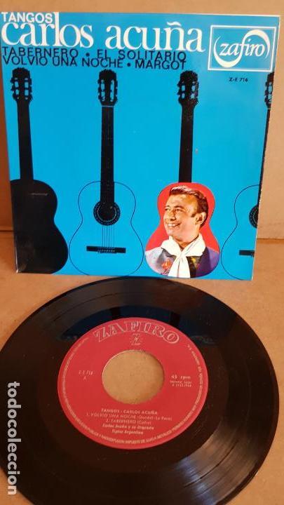 CARLOS ACUÑA / TANGOS / EP - ZAFIRO-1966 / CALIDAD LUJO. ****/**** (Música - Discos de Vinilo - EPs - Grupos y Solistas de latinoamérica)
