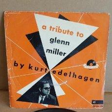 Discos de vinilo: KURT EDELHAGEN Y SU ORQUESTA / A TRIBUTE TO GLENN MILLER / EP-POLYDOR / MBC. ***/***. Lote 155391426