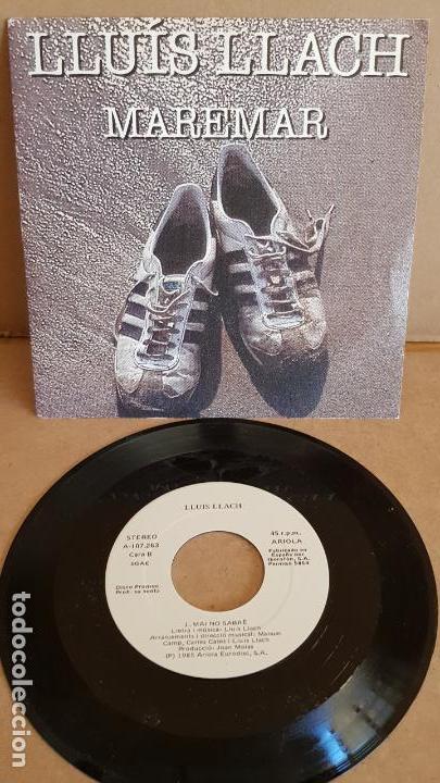 LLUÍS LLACH / MAREMAR / SG-PROMO - ARIOLA -1985 / MBC. ***/*** (Música - Discos - Singles Vinilo - Cantautores Españoles)