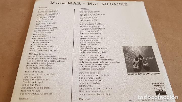 Discos de vinilo: LLUÍS LLACH / MAREMAR / SG-PROMO - ARIOLA -1985 / MBC. ***/*** - Foto 2 - 155395850