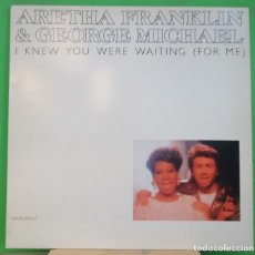 Discos de vinilo: MAXI 12'' ARETHA FRANKLIN & GEORGE MICHAEL – I KNEW YOU WERE WAITING (FOR ME) . Lote 155396870