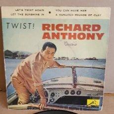 Discos de vinilo: RICHARD ANTHONY / TWIST / EP - LA VOZ DE SU AMO-1961 / MBC.***/***. Lote 155397350