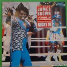 Discos de vinilo: MAXI 12'' JAMES BROWN – LIVING IN AMERICA . Lote 155397458
