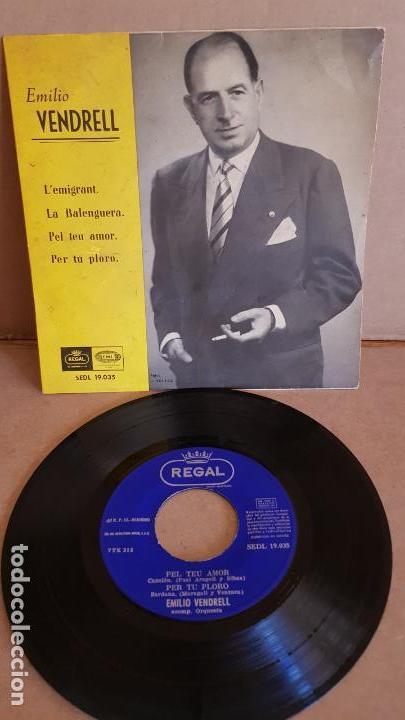EMILIO VENDRELL / L'EMIGRANT / EP - REGAL - AÑOS 50 / MBC. ***/*** (Música - Discos de Vinilo - EPs - Country y Folk)