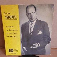 Discos de vinilo: EMILIO VENDRELL / L'EMIGRANT / EP - REGAL - AÑOS 50 / MBC. ***/***. Lote 155399506