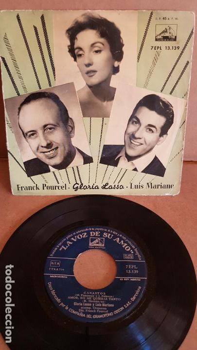 FRANK POURCEL / GLORIA LASSO-LUIS MARIANO / CANASTOS / EP-LA VOZ DE SU AMO / MBC. ***/*** (Música - Discos de Vinilo - EPs - Orquestas)