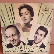 Discos de vinilo: FRANK POURCEL / GLORIA LASSO-LUIS MARIANO / CANASTOS / EP-LA VOZ DE SU AMO / MBC. ***/***. Lote 155405518