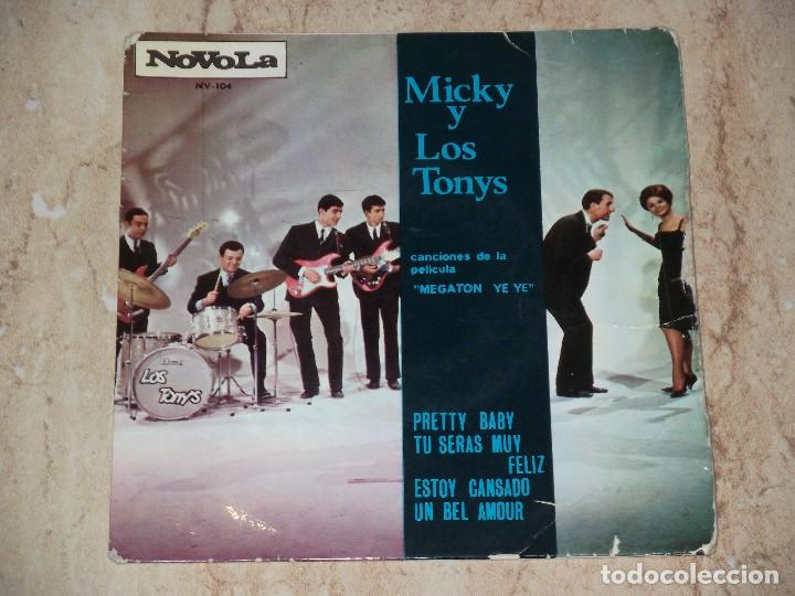MICKY Y LOS TONYS PRETTY+3 BABY B.S.O. MEGATON YE YE EP (Música - Discos de Vinilo - EPs - Grupos Españoles 50 y 60)