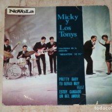Discos de vinilo: MICKY Y LOS TONYS PRETTY+3 BABY B.S.O. MEGATON YE YE EP . Lote 155407302
