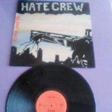 Discos de vinilo: GENIAL LP ORIGINAL. HATE CREW. SILENT RAGE. PUNK ROCK MADE IN BELGICA.AÑO 1988. PETC 10. . Lote 155408114
