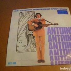 Discos de vinilo: EP : ANTOINE / PIETRE + 3 / ED SPAIN 1967 VOQUE EX. Lote 155413506