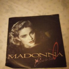 Discos de vinilo: MAXI SINGLE MADONNA : LIVE TO TELL.1986. Lote 155413886