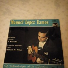 Discos de vinilo: MANUEL LOPEZ RAMOS / SARABANDE / GAVOTTE / SCHERZINO MEJICANO / VALSE (EP FRANCES). Lote 155414274