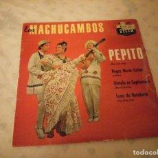Discos de vinilo: LOS MACHUCAMBOS - PEPITO - LUNA DE BENIDORM - DIMELO EN SEPTIEMBRE - EP MADE IN FRANCE. Lote 155414998