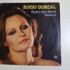 Discos de vinilo: ROCIO DURCAL - CANTA A JUAN GABRIEL VOLUMEN 3. Lote 155447666